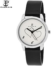 Paqraig- White/Black Analog Watch - For Women