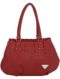 Kacey::Kacey Maroon Shoulder Bag::Kacey Shoulder Bag::Plain Shoulder Bag::Women Shoulder Bag::PU Shoulder Bag:...