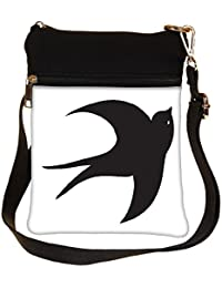Snoogg Bird Vector Element Cross Body Tote Bag / Shoulder Sling Carry Bag