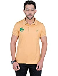 Fabnavitas Polo Neck Beige Slim Fit T-shirt