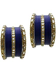 Blue Bridal Chura Wedding Bangles Chuda By My Design(size-2.8)