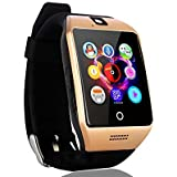 Sampi Sony Xperia Tablet Z LTE Compatible Certified Bluetooth Smart Wrist Watch Phone With SIM Card & TF Card Support With Apps Like Facebook And Whatsapp Hot Fashion New Arrival Android Watch With Apps Touch Screen And Activity Tracker Pedometer Slee