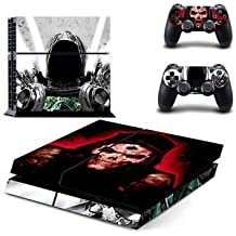 Banggood Ghost Skull Skin Sticker For PS4 Playstation 4 Console Controller Decal Set