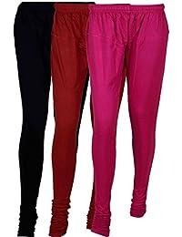 Cotton Leggings (Culture The Dignity Women's Cotton Leggings Combo Of 3_CTDCL_BMP1_BLACK-MAROON-PURPLE_FREESIZE)