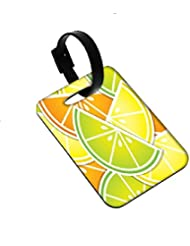 Snoogg Citrus Wedge Background Card In Vector Format Luggage Tags Premium Quality Card Tags - Great For Travel