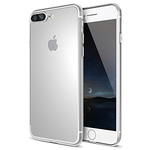 Coque iPhone 7 Plus, MTURE Bumper Cover iPhone 7 Plus Crystal Clear Housse Etui Gel TPU Silicone Clair Transparente Ultra Mince Ultra Léger Case pour ...