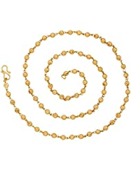 The Jewelbox Nakshi Ball 22K Gold Plated 26.8 IN Chain For Women