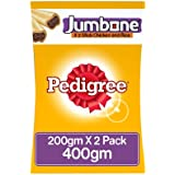 Pedigree Jumbone Adult Dog Treats, Chicken And Rice, 200 G Pouch (Pack Of 2)