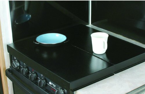 Camco 43554 Universal Fit RV Stove Top Cover (Black)