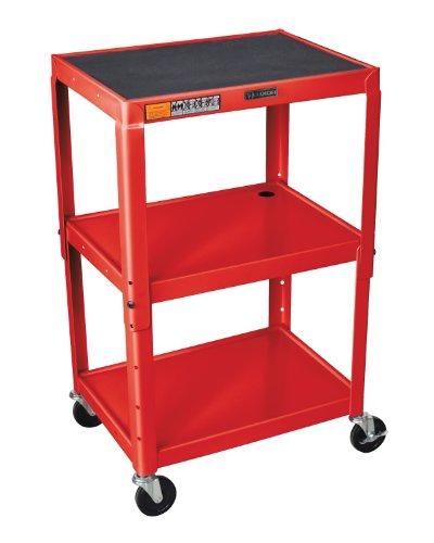 Luxor 3 Shelf Adjustable Height Cart