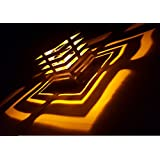 DecorAdda EXT EDGE CUT YELLOW 1W LED Stylish Unique Decorative Modern Designer Picture And Texture Pattern Wall...