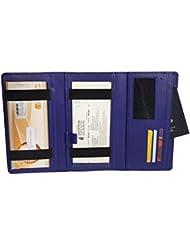 Essart PU Leather Cheque Book Holder-Blue