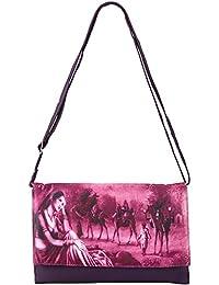 Frosty Fashion Women's Sling Bag (FF-ONLB-300, Purple)