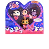 Littlest Pet Shop Valentine Pack With Seal Pink Canary Purple Crab And Beige Cat
