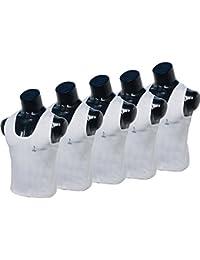 Men's Cotton Vest Men's Inner Wear Sleaveless Vest Gym Vest & Sport Inner Wear Pack Of 5 Pcs Size;100 Cm 31 Inch