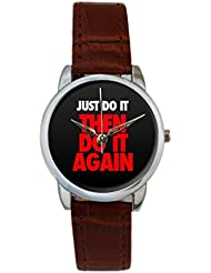 Bigowl Just Do It Then Do It Again Analog Women's Wrist Watch 2003078303-RS3-S-BRW