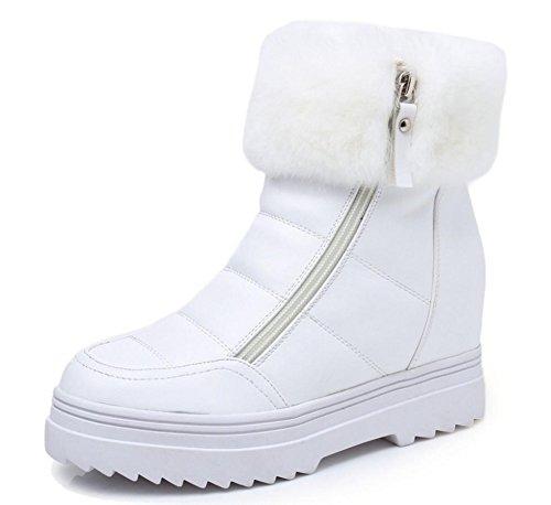 Innerhalb der höheren schwerem Boden Schuhe plus Samt warme Damenstiefel Schneeschuhe Pelzstiefel Doppel-Reißverschluss