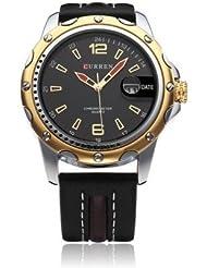 Curren 8104G Luxury Black Dial Analog Watch - For Men