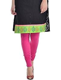 Sohniye Women's Cotton Leggings [Dark Pink]