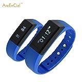 ArcEnCiel(TM) Bluetooth Sync Smart Bracelet Sports Fitness Tracker Smart Wristband Water Resistant Tracker Bracelet Sleep Monitoring Anti-lost Smart Watch