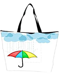 Snoogg Abstract Rainy Season Background With Clouds Waterproof Bag Made Of High Strength Nylon