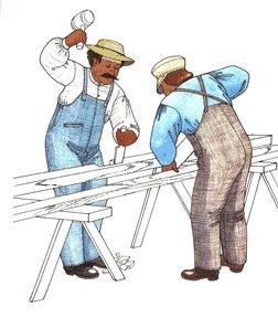 Men's Vintage Reproduction Sewing Patterns 1870s-1901 One Piece Apron Front Overalls Pattern $23.95 AT vintagedancer.com