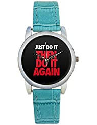 Bigowl Just Do It Then Do It Again Analog Women's Wrist Watch 2003078303-RS3-S-TEA