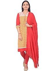 Rama Designer Multi Color Cotton Kurti And Blue Legging And Dupatta