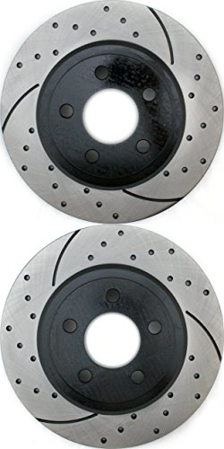 Prime Choice Auto Parts PR63023LR Performance Drilled and Slotted Brake Rotor Pair for Rear