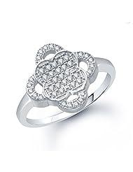 VK Jewels Lavish Micro Pave Setting (CZ) Ring - FR1065R [VKFR1065R]