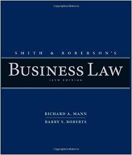 Business law jane mallor pdf