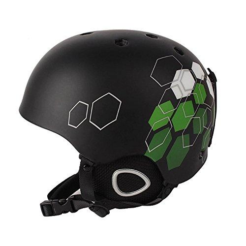 CZUP Unisex Snowboard Schutz Außen Skihelm UP-R044 Black Hexagon