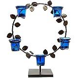 Homesake Black Round Stand With Votive (Set Of 5 Votive) Blue
