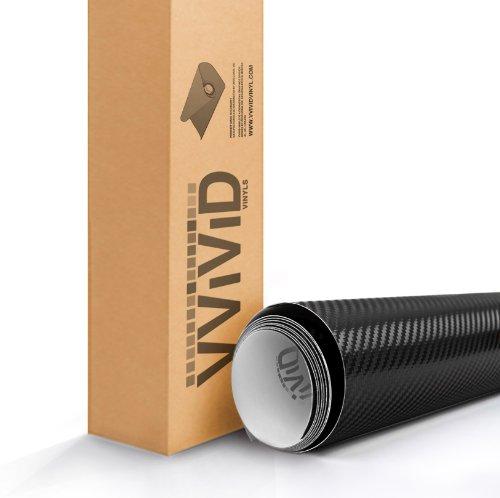 VVIVID® XPO Black 3D Carbon Fiber 5ft x 5ft 25sq ft Cast Vinyl Decal New Bubble-Free Car Wrap Interior