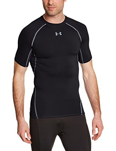 Under Armour - Camiseta interior deportiva para hombre, color negro, talla L