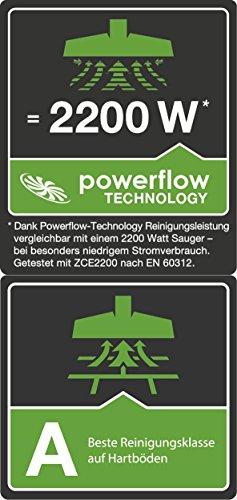 AEG PowerForce ÖKO APF6140 Staubsauger mit Beutel EEK A (600 Watt, inkl. Hartbodendüse, 3,5 l Staubbeutelvolumen, Softräder, waschbarer Hygiene Filter E12) Schwarz/Grün