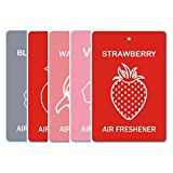 Edelcrafts Car Home Office Paper Hanging Air Freshener (Buy 4 Get 5) - FREE SHIPPING - Choice: Strawberry, Vanilla...