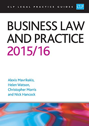 Business Law and Practice (CLP Legal Practice Guides) Pdf
