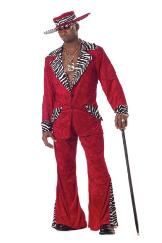 California Costumes Men's Pimp,Red,Large Costume