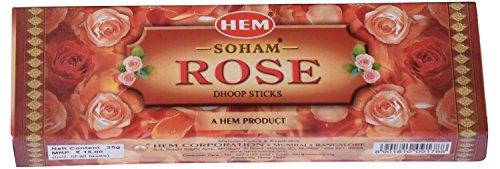Hem Soham Rose Wooden Incense Sticks (300 G, Pack Of 12)