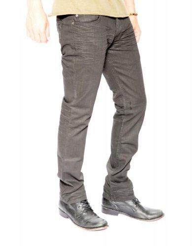 12oz Denim Men's Skinny Jean 32 X 34 Matte Black