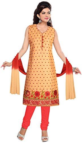 Elan Vital Women's Cotton Straight Salwar Suit - B0188YG3N2