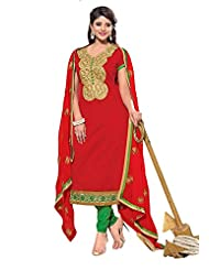 Chanderi Long Straight Top With Cotton Bottom And Pure Heavy Work - B0191QRT16