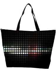 Snoogg Abstract Black Design Designer Waterproof Bag Made Of High Strength Nylon - B01I1KLRX4