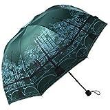 Petty Cabin Fei Nuo Bridge Design Elegant Anti-UV Sun Umbrella Triple Folding UV Protected Parasol