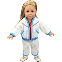 HappyBB Baby Doll Clothes Skirt Fits 16 Inches American Girl Doll Padded Jacket Suit (Blue)