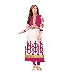 Stylish Dress With Cotton Top And Cotton Bottom And Naznin Dupatta - B0191QR1AU