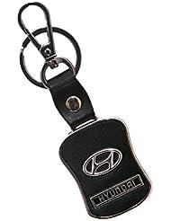 Techpro Premium Quality Leatherite Keychain With Hyundai Design