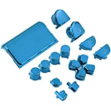 Alcoa Prime New Full Chrome Button Replacement Mod Game Kit For Playstation 4 PS4 Controller Joystick Video Game Playstation Blue Color