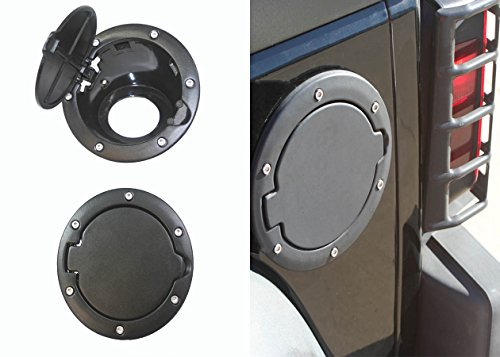 2007-2015 07-15 Jeep Wrangler JK and JK Unlimited Black Stainless Gas Cap Cover